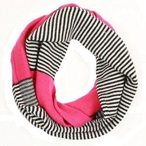 Kate Spade Wool Pink Stripe Infinity Scarf